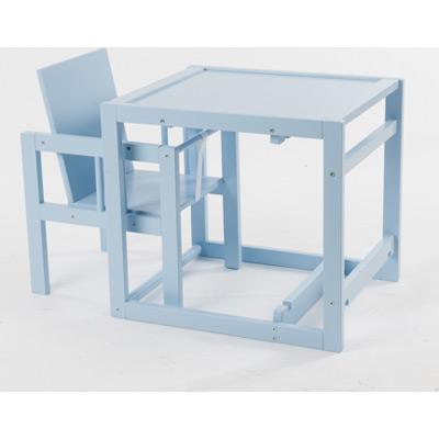 chaise haute cubic transformable en petit bureau coloris candy blue quax tendre amour. Black Bedroom Furniture Sets. Home Design Ideas