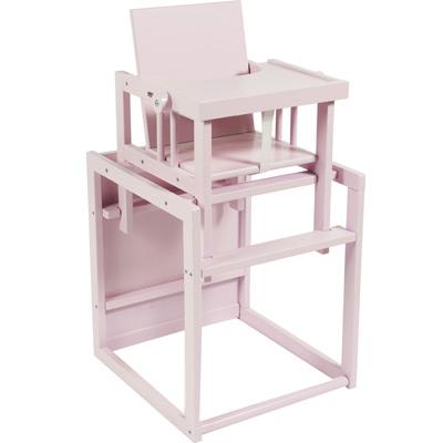 chaise haute cubic transformable en petit bureau coloris fairy pink quax tendre amour. Black Bedroom Furniture Sets. Home Design Ideas