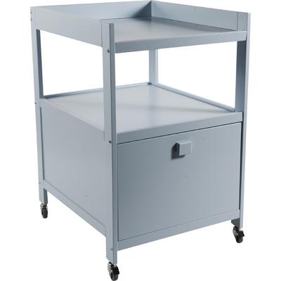 table langer quax cubic bleu avec tiroir et munie de roulettes chez tendre amour. Black Bedroom Furniture Sets. Home Design Ideas