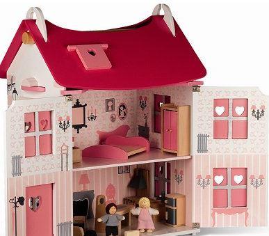 maison de poup e mademoiselle jouet en bois janod. Black Bedroom Furniture Sets. Home Design Ideas