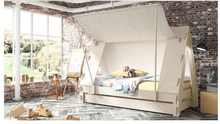 lit enfant tente finition bois brut mathy by bols. Black Bedroom Furniture Sets. Home Design Ideas