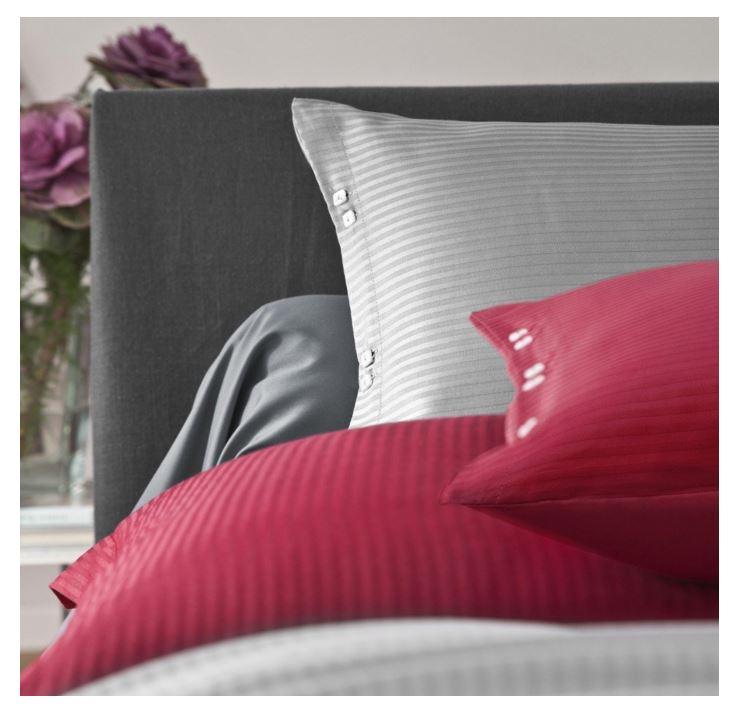 taie oreiller uni satin jacquard avec boutons 50x75 cm. Black Bedroom Furniture Sets. Home Design Ideas