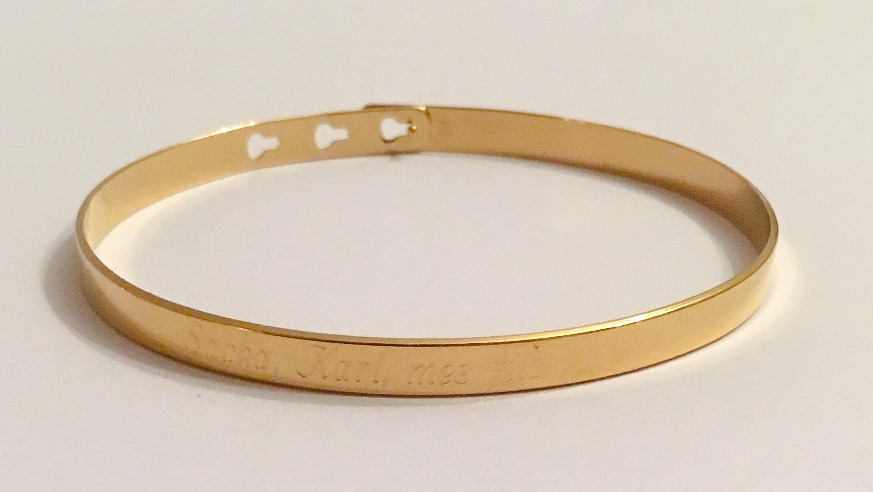 Bracelet gouttes lies par anneau grav - Mini Union - AGATHA Paris
