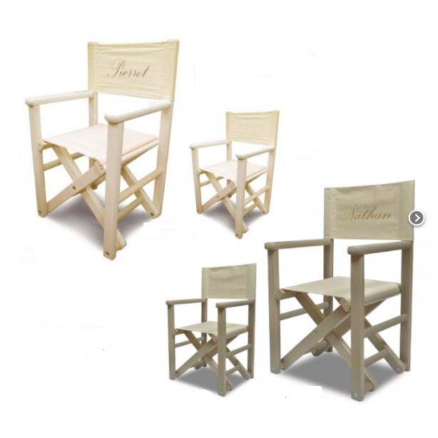 fauteuil enfant metteur en sc ne personnalis. Black Bedroom Furniture Sets. Home Design Ideas