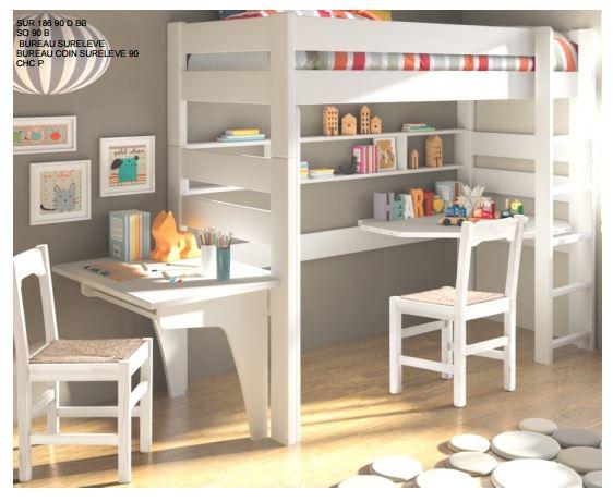 lit mezzanine 127 dominique mathy by bols. Black Bedroom Furniture Sets. Home Design Ideas
